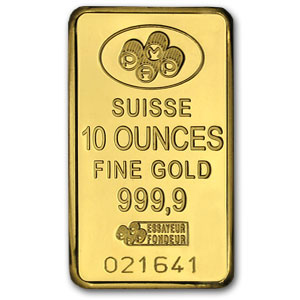 10 ounces fine gold pamp suisse